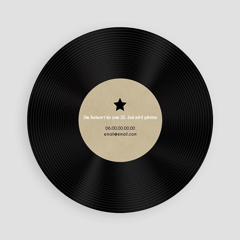 Erwachsener Einladungskarten Geburtstag Vinyl Schallplatte pas cher