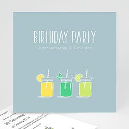 Einlegekarte Anniversaire adulte Lemonade Party