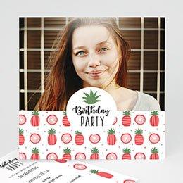 Einlegekarte Anniversaire adulte Pineapple