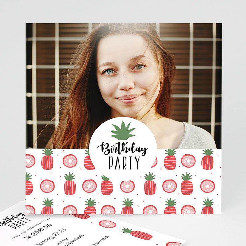 Erwachsener Einladungskarten Geburtstag Pineapple
