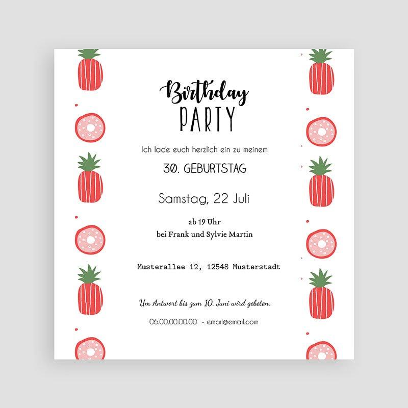 Erwachsener Einladungskarten Geburtstag Pineapple pas cher