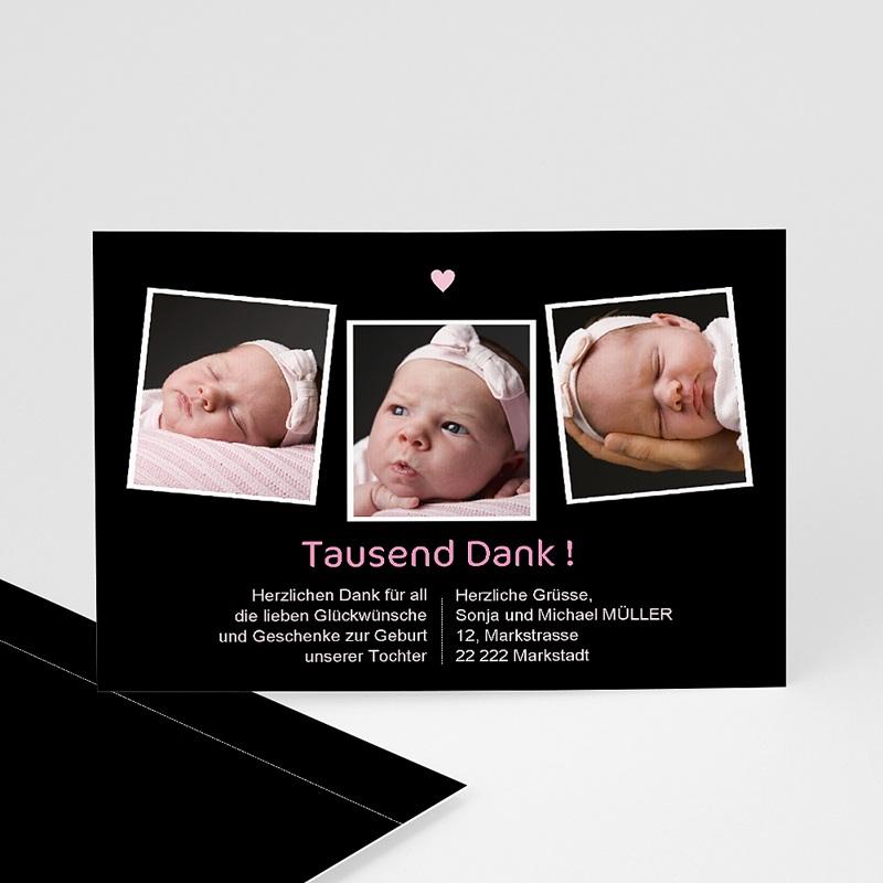 Dankeskarten Geburt Mädchen - Inna 539 thumb