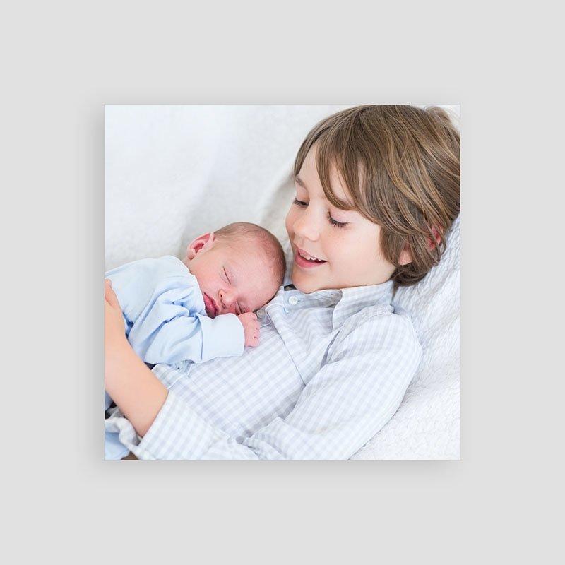 Dankeskarten Geburt Jungen - Pinguin blau 53914 thumb