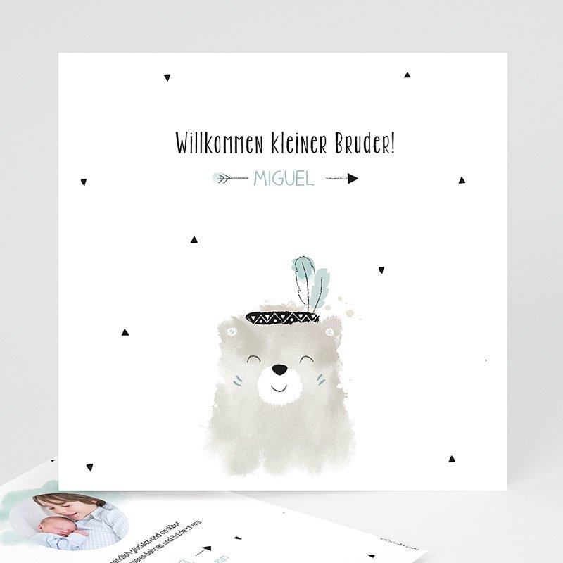 Geburtskarten mit Bär Kleiner Bruder