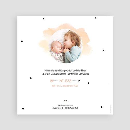 Geburtskarten mit Bär Kleine Schwester pas cher