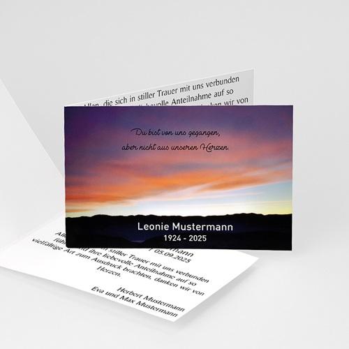 Weltlich Dankeskarten Trauer Himmel