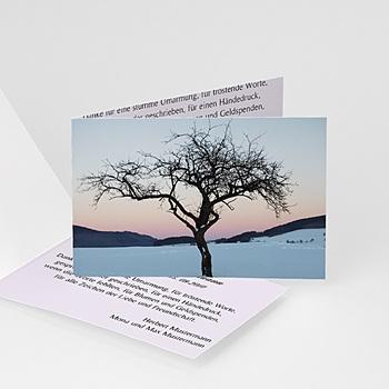 Trauer Danksagung weltlich - Göttliche Abendsonne - 1