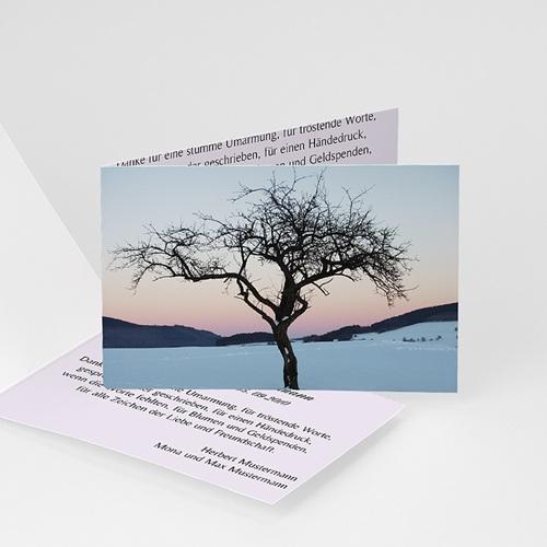 Weltlich Dankeskarten Trauer Göttliche Abendsonne