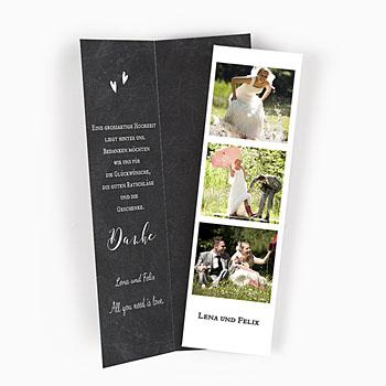 Danksagungskarten Hochzeit  - Schiefergrau - 0
