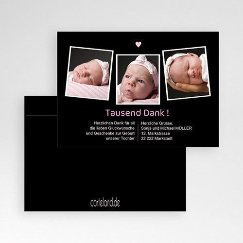 Dankeskarten Geburt Mädchen - Inna 540 thumb