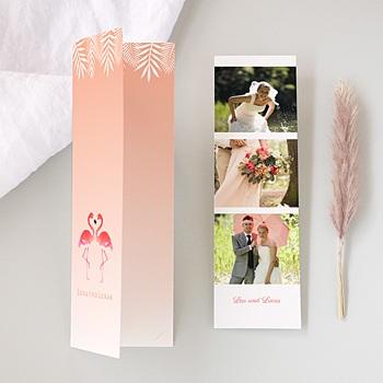 Danksagungskarten Hochzeit  - Rosa Flamingo - 0