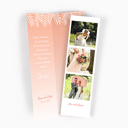Danksagungskarten Hochzeit Rosa Flamingo
