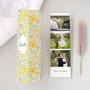 Danksagungskarten Hochzeit  - Blütenpracht - 0