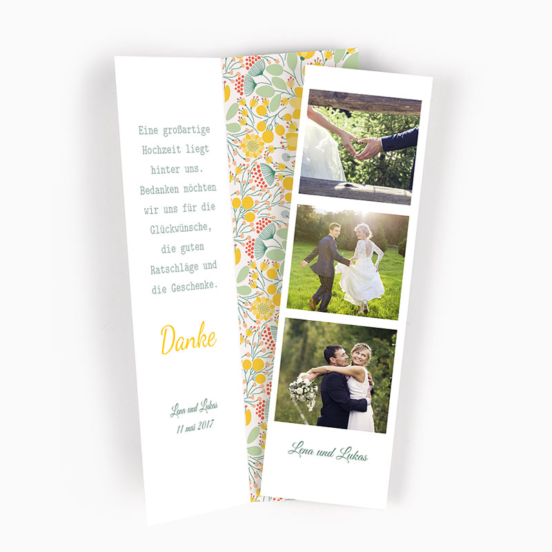 Danksagungskarten Hochzeit  Blütenpracht
