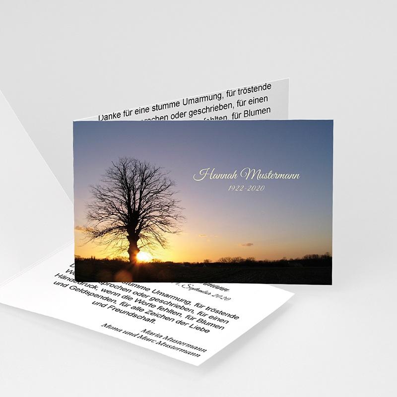 Weltlich Dankeskarten Trauer Aufgang