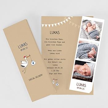 Geburtskarten für Jungen Storch