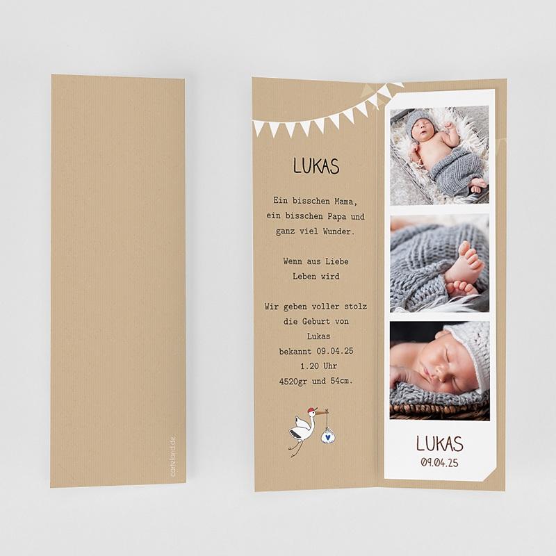 Geburtskarten Storch gratuit