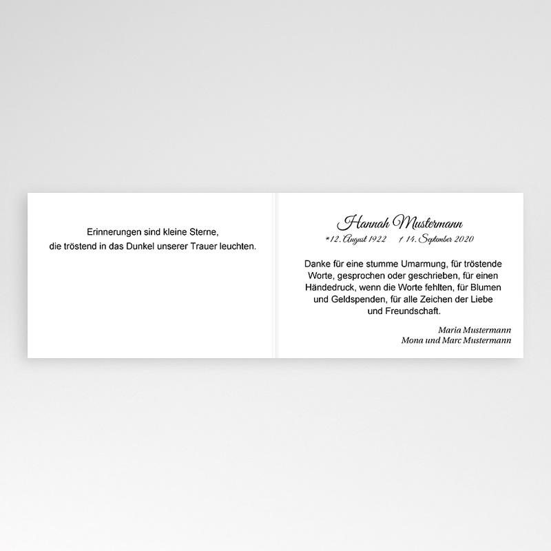 Weltlich Dankeskarten Trauer Aufgang pas cher