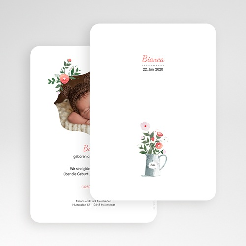 Geburtskarten für Mädchen - Blumenstrauss 54048 preview