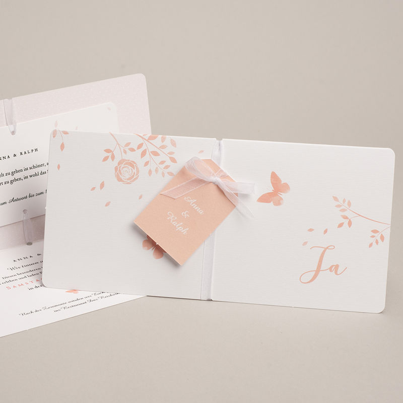 Hochzeitseinladungen Schmetterlinge