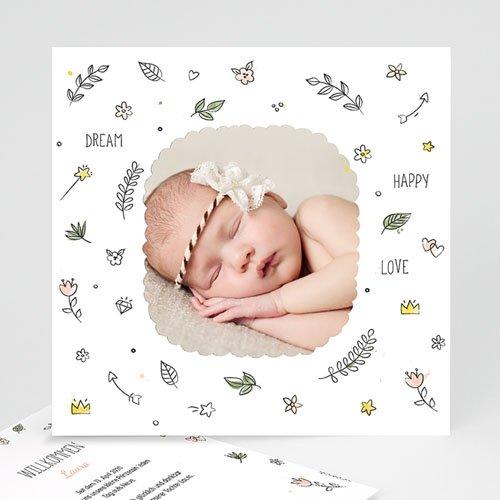 Geburtskarten für Mädchen - Dream Happy Love 54074