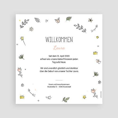 Geburtskarten für Mädchen Dream Happy Love pas cher