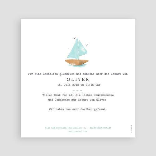 Babykarten für Jungen - Schiff Aquarell 54083 test