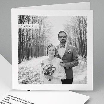 Danksagungskarten Hochzeit  - So simple - 0