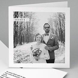 Danksagungskarten Hochzeit  So simple