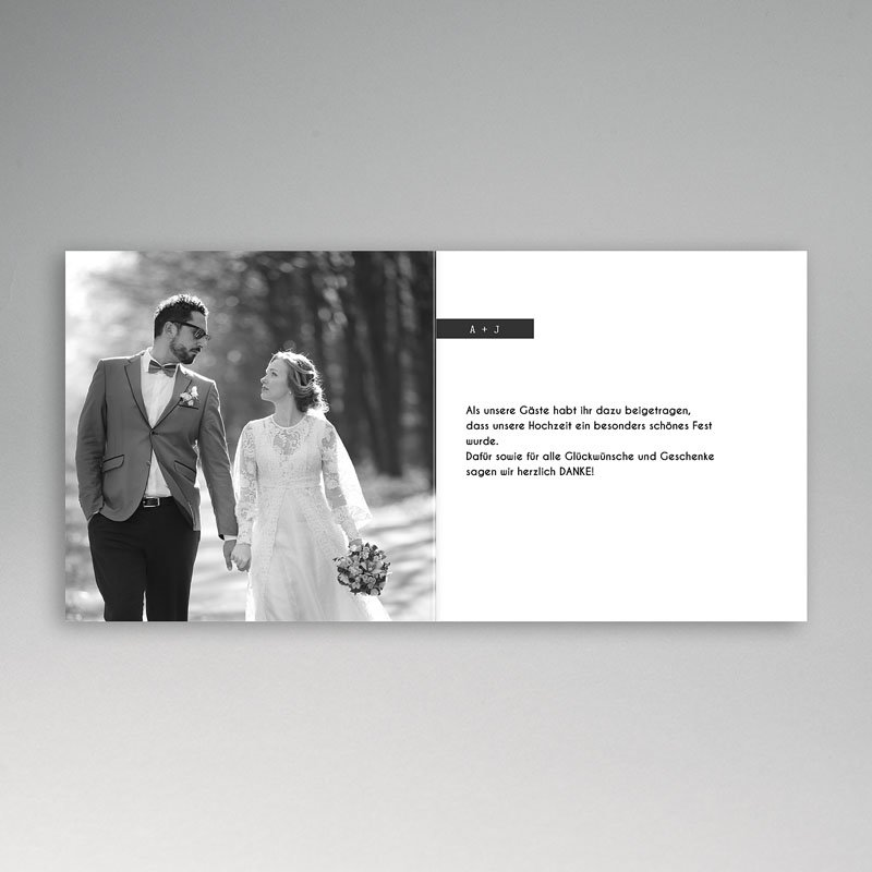 Danksagungskarten Hochzeit  So simple pas cher