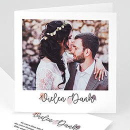 Danksagungskarten Hochzeit Farbtupfer