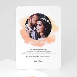 Danksagungskarten Hochzeit Aquarelltechnik