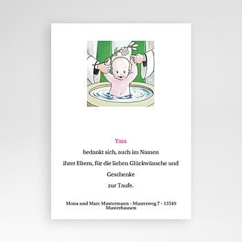 Dankeskarten Taufe Jungen - Taufbecken - 1