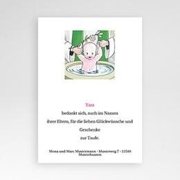 Dankeskarten Taufe Jungen Taufbecken