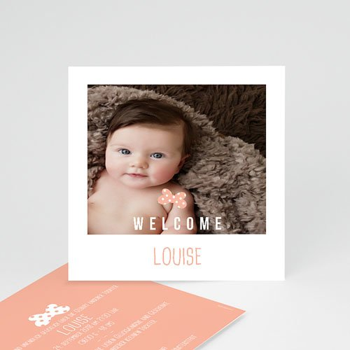 Geburtskarten für Mädchen - Sofortbildkamera 54117