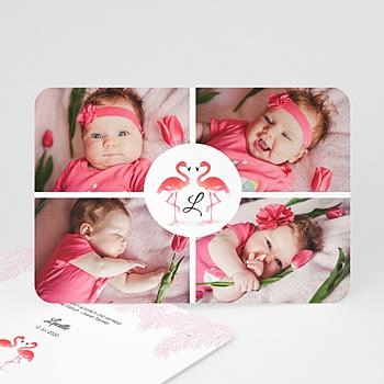 Geburtskarten für Mädchen - Tropical Flamingo - 0