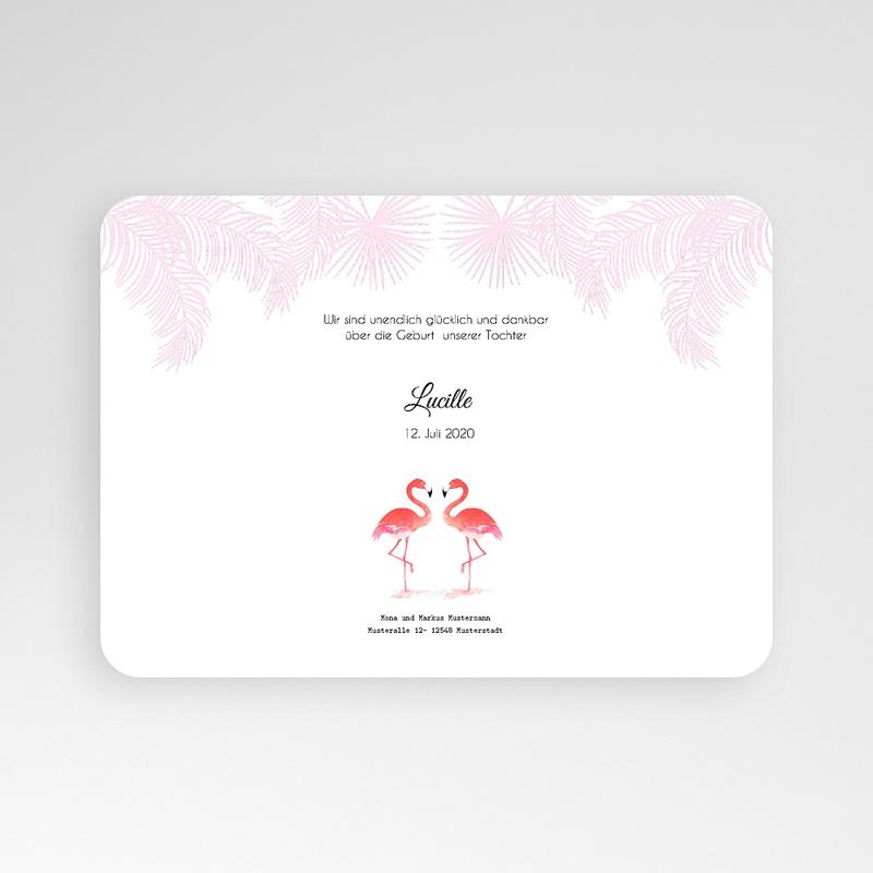 Geburtskarten für Mädchen Tropical Flamingo pas cher
