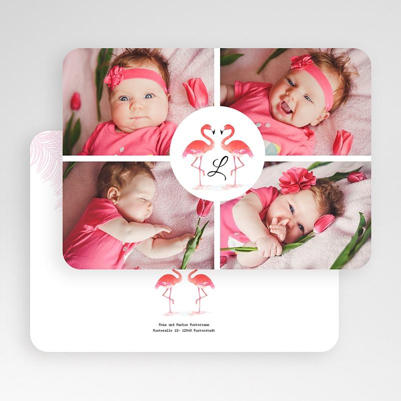 Geburtskarten für Mädchen Tropical Flamingo gratuit