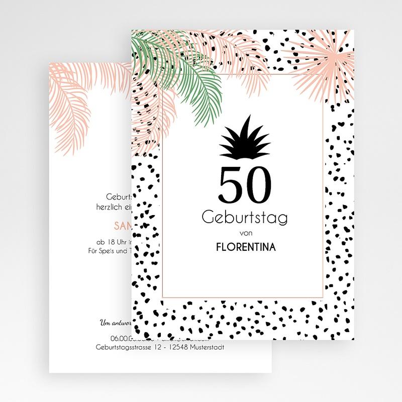 Erwachsener Einladungskarten Geburtstag Unter den Palmen gratuit