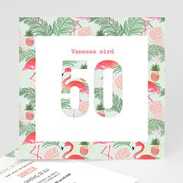 Einlegekarte Anniversaire adulte Tropical Party