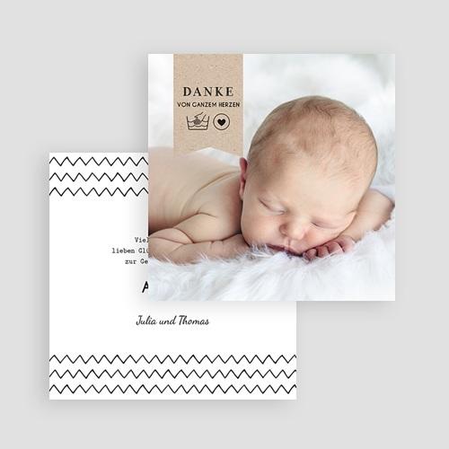 Dankeskarten Geburt Jungen - Handgemacht 54190 test