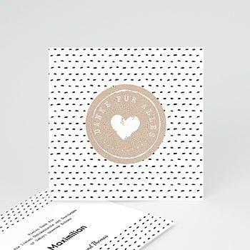 Dankeskarten Geburt Jungen - Mit Liebe - 0