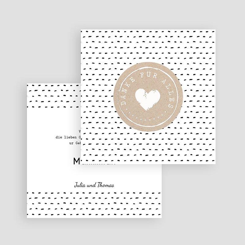 Dankeskarten Geburt Jungen Mit Liebe gratuit