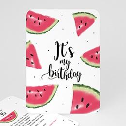 Einlegekarte Anniversaire adulte Wassermelone
