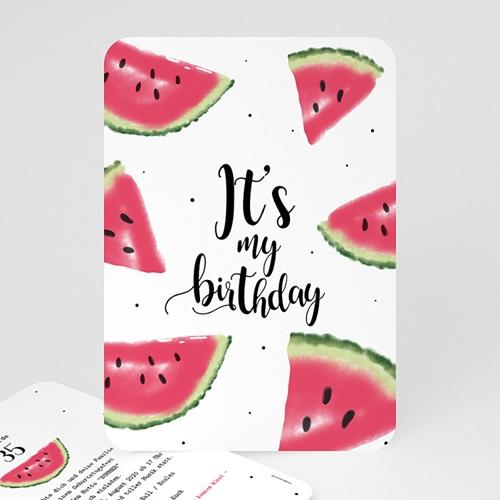 Runde Geburtstage - Wassermelone 54203