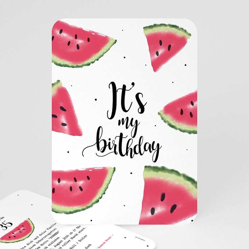 Runde Geburtstage Wassermelone