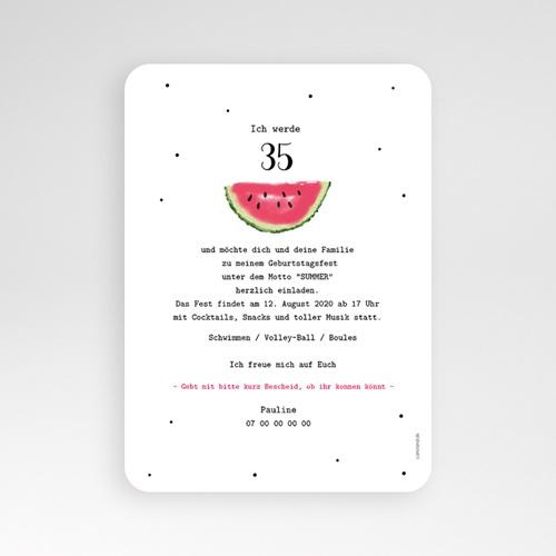 Runde Geburtstage - Wassermelone 54204 preview
