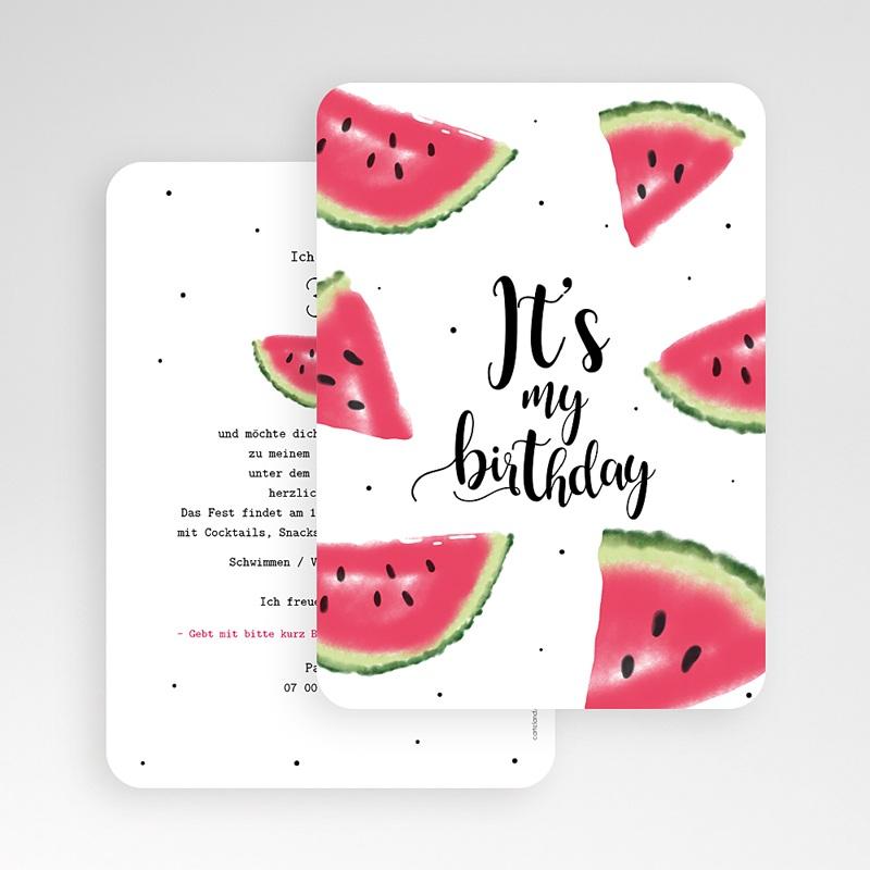 Runde Geburtstage Wassermelone gratuit
