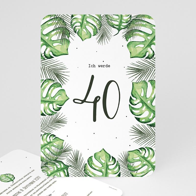 Erwachsener Einladungskarten Geburtstag Tropical Islands