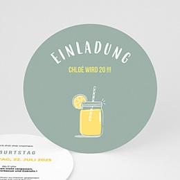 Einlegekarte Anniversaire adulte Zitronenlimonade